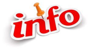 Empurre Pin e informação (o trajeto de grampeamento incluído) Foto de Stock Royalty Free