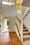 Empy house interior. Enrance hallway with staircase Royalty Free Stock Image