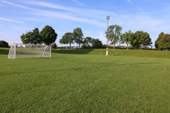 Empy Soccer Pitch Royalty Free Stock Photography