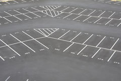 empy stor lottparkering för hörn Royaltyfri Bild