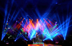 Emre Aydin Rock Concert. Wide View Of Stage.  in Bostancı Gösteri Merkezi, İstanbul Turkey Royalty Free Stock Photography