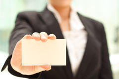 Emrty business card Stock Photos