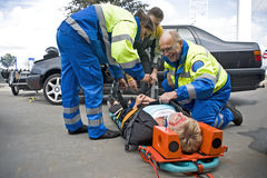 EMS team at work Stock Photography