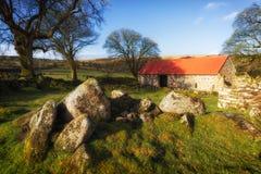 emsworthy Scheune dartmoor Devon England Großbritannien Lizenzfreie Stockfotografie