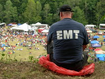 EMT Helping Fotografia Stock