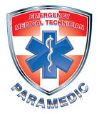 EMT Paramedic Medical Design Shield Stock Images