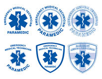EMT Paramedic Medical Designs royalty free illustration
