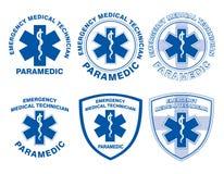 EMT-person med paramedicinsk utbildning Medical Designs Royaltyfri Fotografi