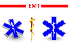 Emt. St Andrews cross and Eskulap Stock Photo
