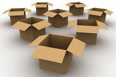 Emtpy Boxes Royalty Free Stock Photo