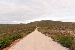 Emtpy gravel roads Stock Photo