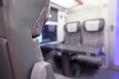 Emtpy interior of the train Royalty Free Stock Photography