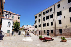 Emtpy square with  antique buildings  in Venezia Royalty Free Stock Images