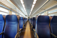 Emtpy train interior Royalty Free Stock Photo