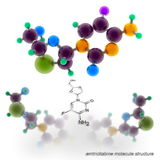 Emtricitabine molecule structure Royalty Free Stock Photo