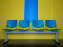 emtry blue chairs Stock Images