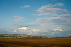 Empty agriculture fields. With motion effect Stock Photography