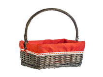 Emty basket on white Royalty Free Stock Photography