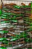 Emty bottle in basket steel Stock Photo