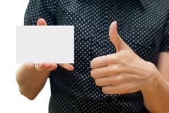 Emty business card Stock Photos