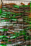 Emty flaska i korgstål Arkivfoto