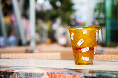 Emty gebroken glas Royalty-vrije Stock Afbeelding