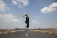 Emty road in rural Oman. Empty road in remote Oman Stock Photography