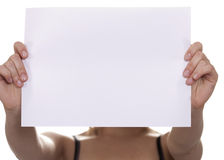 Emty sheet of paper Royalty Free Stock Photos