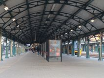 Emty station den bosch. Almost emty station den bosch was not so bussy on that day royalty free stock photo