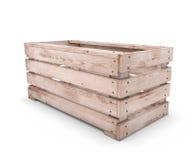 Emty wooden box Stock Photos
