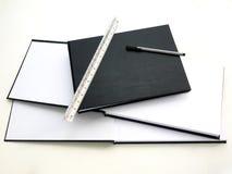 Emtypagina, boek, en materiaal Royalty-vrije Stock Fotografie