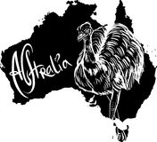 Emu as Australian symbol Royalty Free Stock Photography