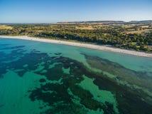 Emu Bay coastline aerial view. Kangaroo Island, South Australia. Stock Photography