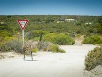 Emu Give Way Sign Royalty Free Stock Photo
