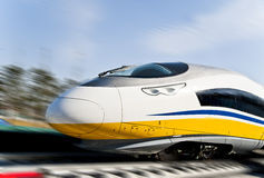 EMU high-speed railway. In China Stock Photos