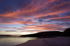Emu Point. Sunrise at Emu Point a popular swimming beach near Albany, Western Australia Stock Image