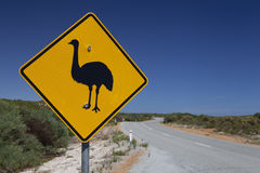 Emu sign Royalty Free Stock Photography