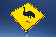 Emu sign Royalty Free Stock Images