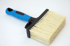 Emulsion paint brush. With stiff bristles and a plastic handle stock images