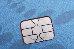 EMV Credit Card Computer Chip Royalty Free Stock Image