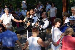 Emy Dragoi in overleg in IOR-park in Boekarest stock foto's