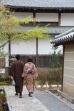 En夫妇(寺庙Kodai籍-京都- Japon) 库存照片