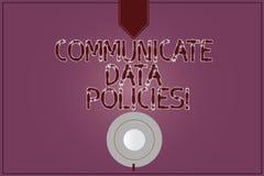 En écrivant l'apparence de note communiquez les politiques de données Protection de présentation de photo d'affaires de transmiss illustration de vecteur
