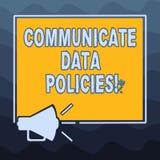 En écrivant l'apparence de note communiquez les politiques de données Protection de présentation de photo d'affaires de transmiss illustration libre de droits