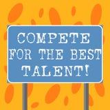En écrivant l'apparence de note concurrencez pour le meilleur talent Concurrence de présentation de photo d'affaires de détermine illustration stock