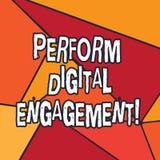 En écrivant l'apparence de note exécutez l'engagement de Digital Utilisation de présentation de photo d'affaires des médias socia illustration de vecteur