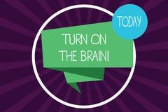En écrivant la représentation de note tournez sur le cerveau Le temps de présentation de photo d'affaires de penser la génération illustration de vecteur