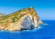 En île d'Amorgos en Grèce Photos libres de droits