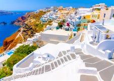 En île de Santorini en Grèce Photo libre de droits