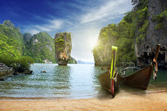 En ö i Thailand Arkivbilder